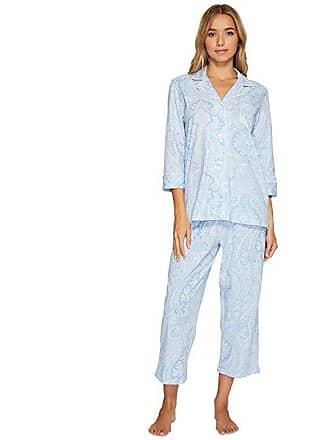 9c70eb02ff Ralph Lauren Essentials Bingham Knits Capri PJ Set (Blue Paisley) Womens  Pajama Sets