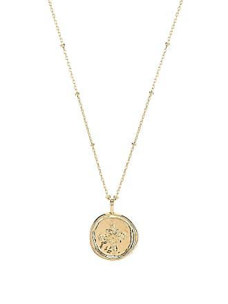 Gorjana Compass Coin Necklace in Metallic Gold