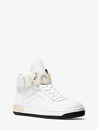 Michael Kors Cortlandt Embellished Leather High-Top Sneaker