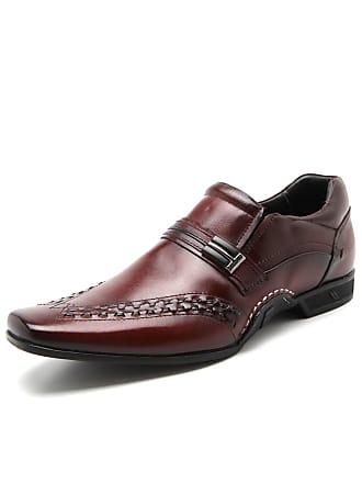 Rafarillo Sapato Social Couro Rafarillo Costura Vinho