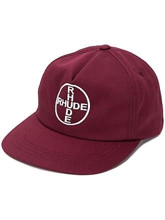 Rhude Boné com logo bordado - Vermelho