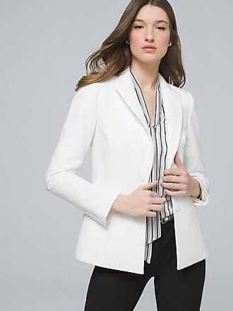 White House Black Market Womens Comfort Stretch Blazer Jacket by White House Black Market, White, Size 16