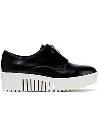 Opening Ceremony Opening Ceremony Woman Glossed-leather Platform Sneakers Black Size 36