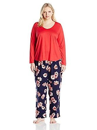 d2af1af9366 Oscar De La Renta Pink Label Womens Plus Size Floral Print Pajama Set