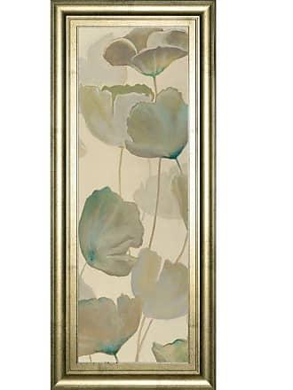 Classy Art Poppy Impression Panel 2 Framed Wall Art - 18W x 42H in. - 1602