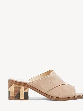 bbf82f6f23e Sole Society Womens Tota Woven Block Heels Sandals Tan Size 7 Suede From Sole  Society