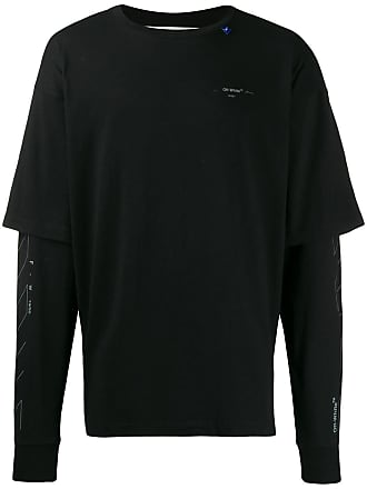 Off-white Camiseta com estampa diagonal - Preto