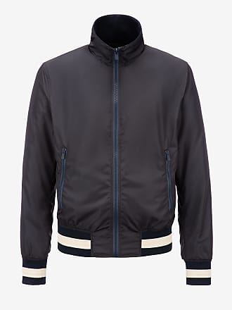 Bally Nylon Bomber Jacket Blue 58