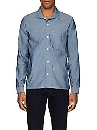 Max´n Chester Mens Cotton Chambray Shirt - Blue Size 32