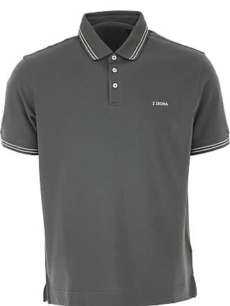 8c87537b9999a Ermenegildo Zegna Polo Shirt for Men On Sale, Dark Anthracite Grey, Cotton,  2017