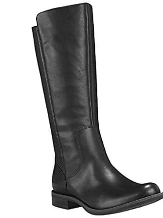 Timberland Womens Magby Tall Boot, Black Full-Grain, 8 M US
