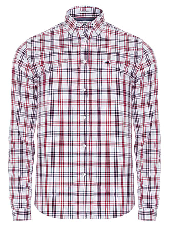 Tommy Jeans CAMISA MASCULINA ESSENTIAL MULTI CHECK - OFF WHITE