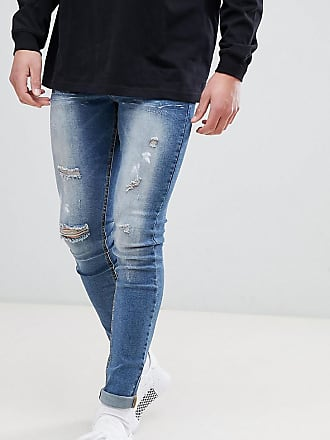 91a9e327 Sixth June super skinny jeans in mid wash with distressing exclusive to  ASOS - Blue