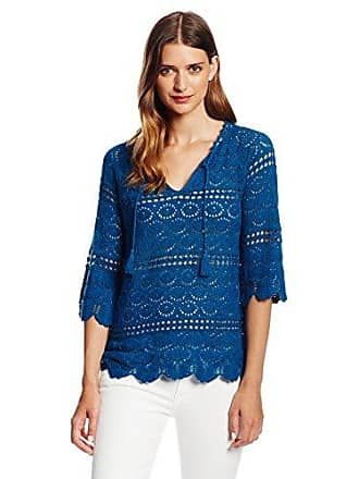 Lucky Brand Womens Crochet Sapphire Tunic Sweater, Blue Saphire, X-Small