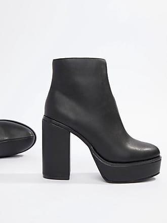 066a677e867d1f London Rebel Ankle-Boots mit Plateausohle - Schwarz