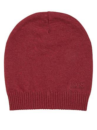 9c95e48a83f0f BOSS Hugo Boss Knitted beanie hat tonal logo One Size Dark Red