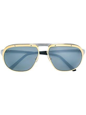 a10a8fd55171 Cartier Santos de Cartier sunglasses - Metallic