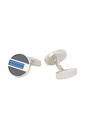 ee3f22b91 BOSS Round cufflinks in polished brass with enamel color-blocking