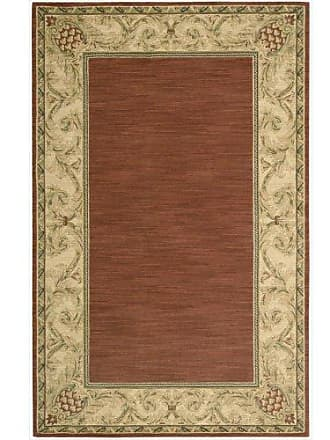 Nourison Grand Parterre/Parth (VA10) Brick Rectangle Area Rug, 5-Feet 3-Inches by 8-Feet 3-Inches (53 x 83)