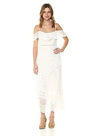 19fa28c227 ASTR the Label Womens Marguerite Off The Shoulder Soft Lace Ruffle Maxi  Dress
