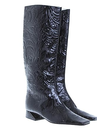 25f5185c0a10 Fendi gebraucht - Schwarze Stiefel mit Jacquard-Muster - EU 36