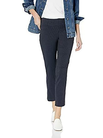 Nic+Zoe Womens Dotted UP Pant, Navy, 6