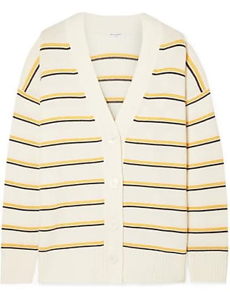 Equipment Elder Striped Wool And Cashmere-blend Cardigan - Cream