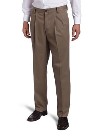 Dockers Mens Iron Free Khaki D3 Classic Fit Pleated Pant, Willow - discontinued, 42W x 32L