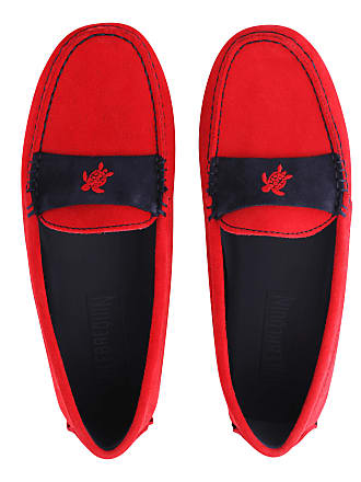 Vilebrequin Women Accessories - Women Very soft Daim Loafers Solid - SHOES - JACKIE - Red - 41 - Vilebrequin
