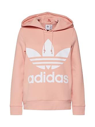 bffa2f5e962 adidas Sweatshirt TREFOIL HOODIE perzik / wit