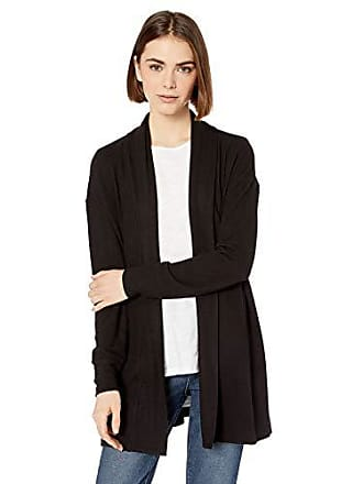 Daily Ritual Womens Cozy Knit Open Cardigan, Black, Small