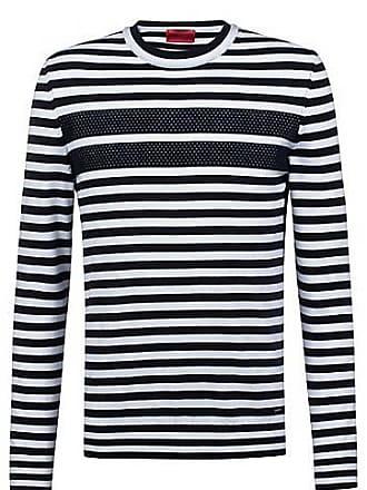 14dbcb8f1d8 HUGO BOSS T-shirt Regular Fit à manches longues en coton à rayures129.00