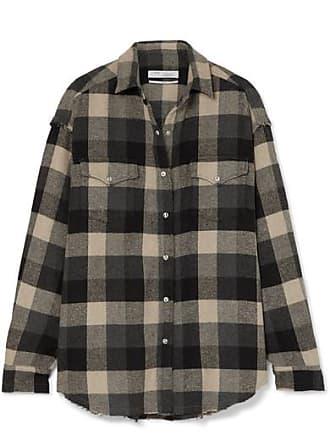Iro Garance Plaid Cotton-blend Flannel Shirt - Black