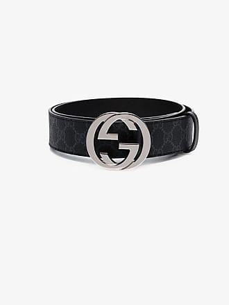Gucci black Supreme GG canvas and leather belt