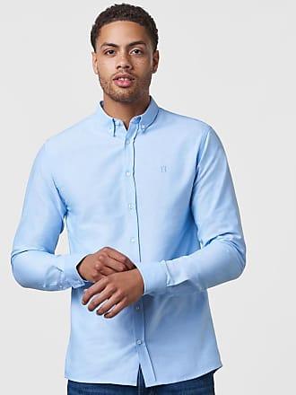 Les Deux Christoph Oxford Shirt Light Blue 7d9030c4ffefa