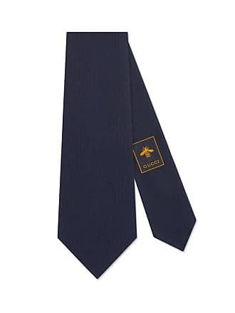 Gucci crest underknot silk tie