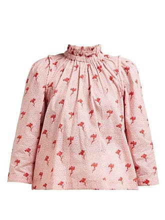 fb637934d0ce84 Sea New York Ruffled Floral Print Cotton Blouse - Womens - Pink Multi