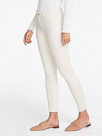 ANN TAYLOR Petite Curvy Frayed Hem Performance Stretch Skinny Jeans