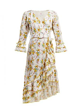 Gül Hürgel Floral Print Linen Dress - Womens - White Print