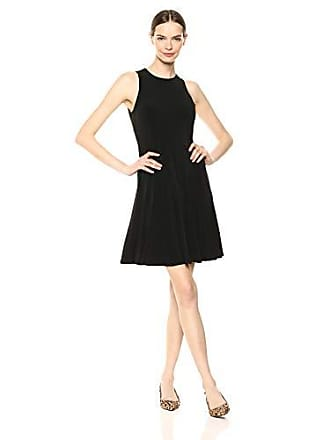 Karen Kane Womens Seamed A-Lined Dress, Black Large