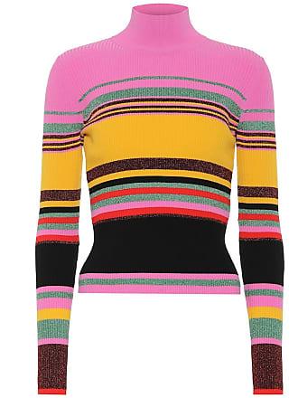 Diane Von Fürstenberg Dara striped stretch knit sweater