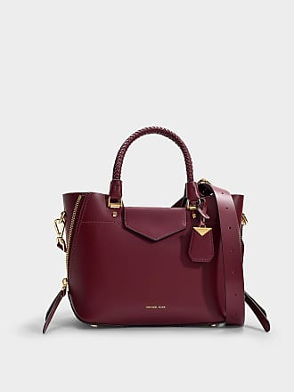 cd10e4e81e Michael Michael Kors Sac Messenger Blakely Medium en Cuir de Veau Bordeaux