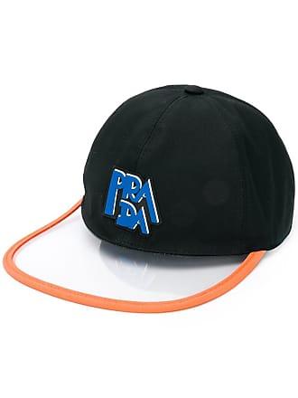 171db092f8e Prada transparent brim logo cap - Black