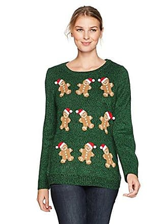 Notations Womens Ugly Gingerbread Man Christmas Sweater, XL
