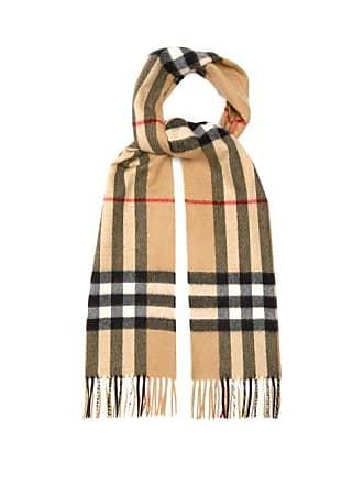 83da95b2e9396 Burberry Classic Check Cashmere Scarf - Womens - Camel