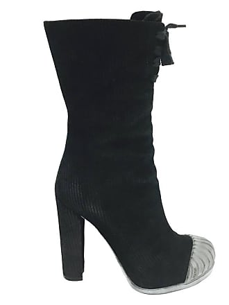 36f99fb6dd04 Delivery  free. Fendi Fendishire Mid-shaft Suede Rubber Cap Boots 35