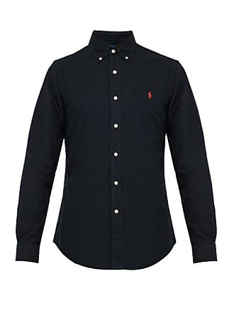 0e31fe19c794 Polo Ralph Lauren Slim Fit Cotton Oxford Shirt - Mens - Black