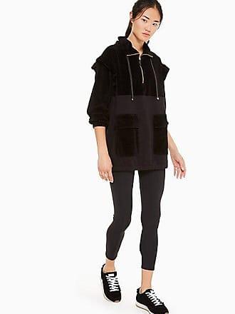 Kate Spade New York Velour Ruffle Pullover, Black - Size L