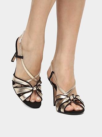 c3afbf59f3 Shoestock Sandália Couro Shoestock Salto Fino Nó Feminina - Feminino