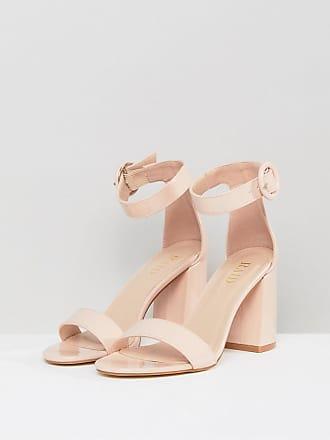 43f08046e3ab Raid Genna Patent Block Heeled Sandals - Beige
